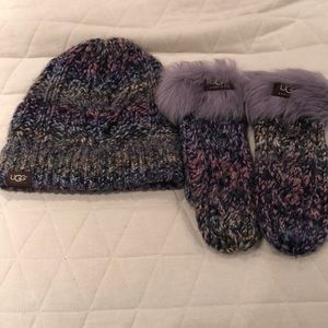Ugg hat and mittens